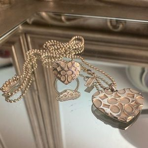 Coach necklace and ring set